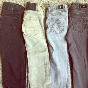 Lot of (4) Jeans 4/4T Straight Reg Skinny Levi DC